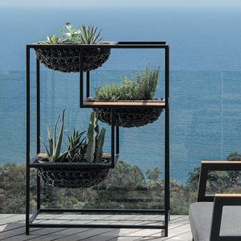 Jackie Planter - Garden planter, graphite grey colour