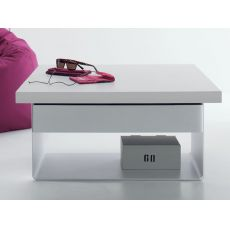 Orfeo - Transformable coffee table in wood, 80 x 80 cm