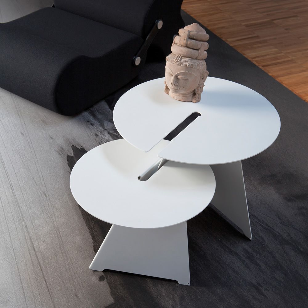 Coffee table in painted steel, modular