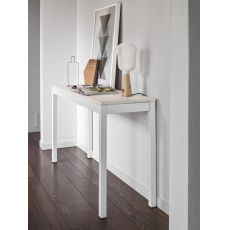 CB4085 Snap Consolle - Connubia - Calligaris console table in metal, melamine top 130 x 40 cm, extendable