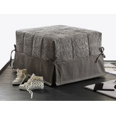 Puglia - Pouf bed with removable fabric or imitation leather covering