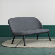 Ace-S - Normann Copenhagen 2 seaters sofa with wooden legs, covering in leather or fabric