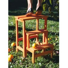 Happy Flowers & Numbers - Step stool ladder made of beech wood, different colours