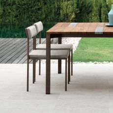 Casilda - S - Design chair in metal, with or without armrests, also for garden