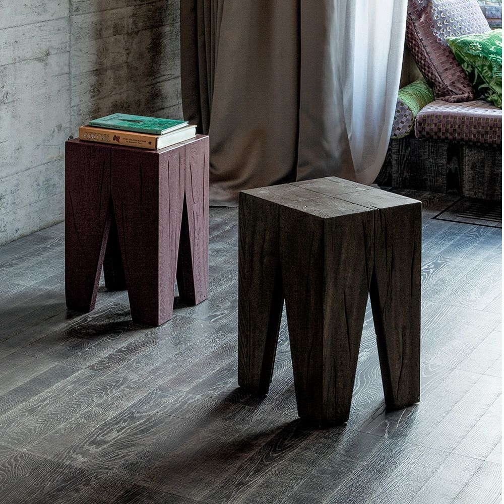 Stool made of wood, seat's height of 47 cm