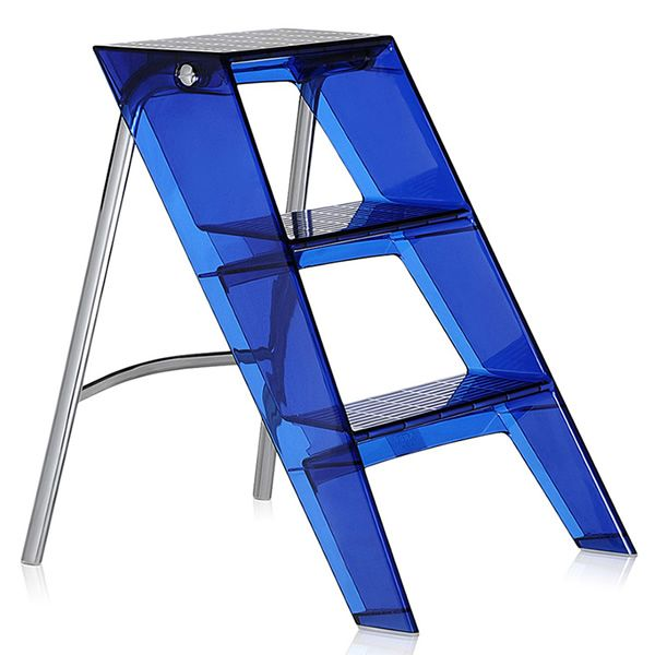 Kartell 3-foot folding stepladder with slip-resistant finish, in blue colour