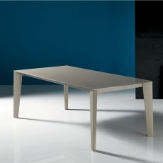 Cruz - Design table Bontempi Casa, in metal with 140 x 90 cm top, extendable, available in several finishes