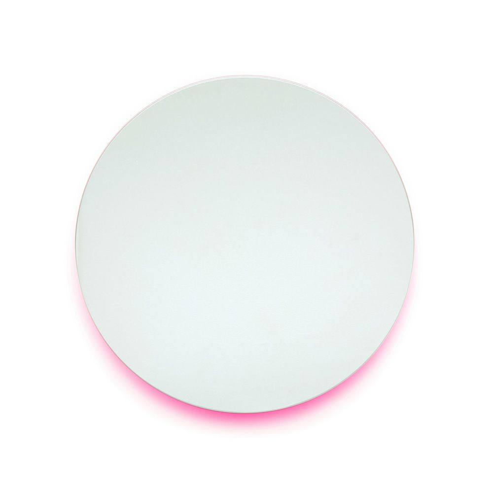 Round wall mirror, in fucsia colour (Size: XS)