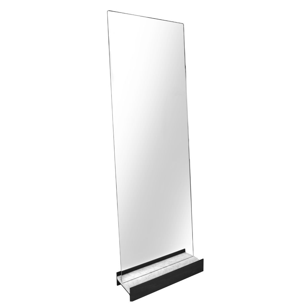 Rectangular mirror, with metal and marble detail
