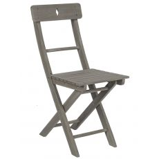 Martignano - Folding chair in wood, for outdoor