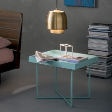 Slash - Dall'Agnese coffee table made of metal and veneered wood, different colours and sizes available