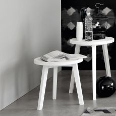 Gray - Gervasoni side table in solid wood, available in different dimensions
