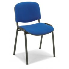 ML100 - Waiting chair with padded seat and back, stackable