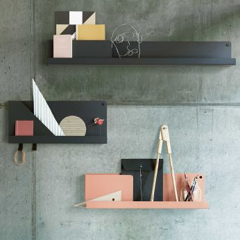 Folded Shelves - Repisa de metal plegado, lacado en varios colores