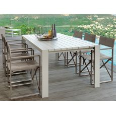 Chic - T2 - Aluminium table for garden, 220 x 104 cm