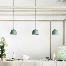 Grain - Suspension lamp Muuto, in bamboo and polypropylene