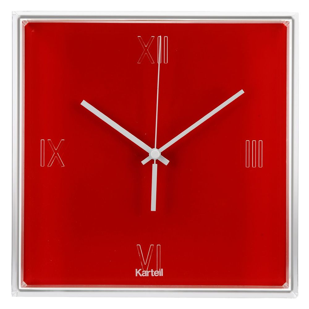 Kartell clock in red colour
