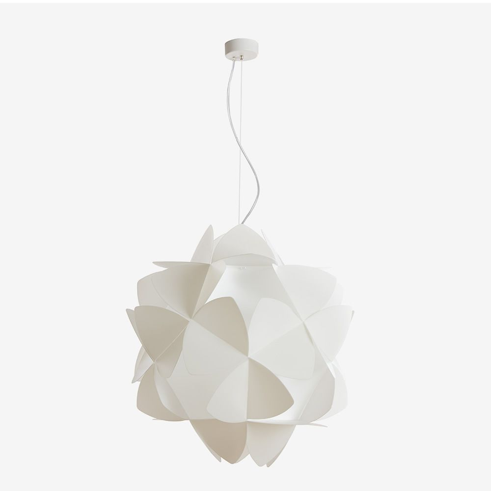 Sandylex and methacrylate suspension lamp, white colour, size L