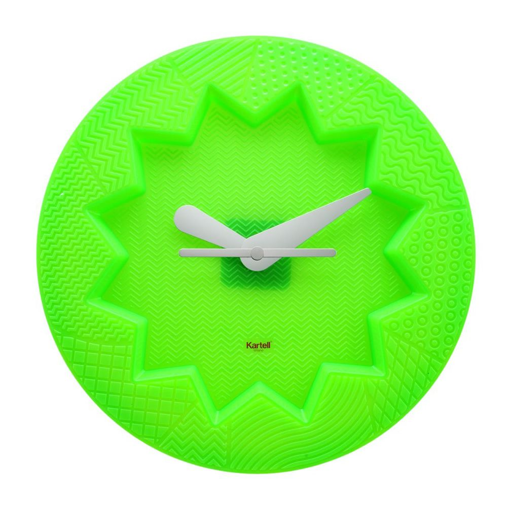 Reloj de pared Kartell de color verde