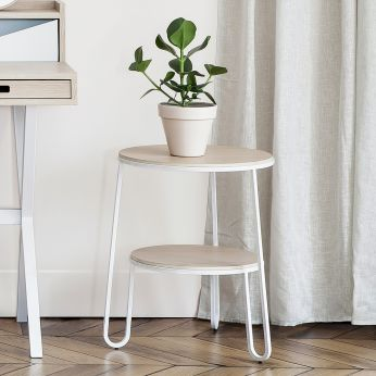 Anatole - Side table in metal and wood