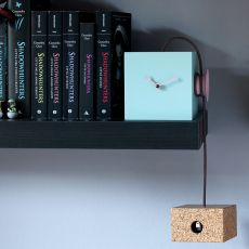 Uhuhu - Wall or table cuckoo clock made of wood and cork, different colours available
