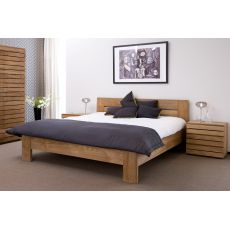 Azur-H - Ethnicraft double bed with teak frame, different sizes available