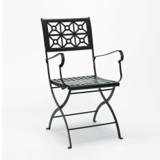 Isotta P 2501 - Folding metal chair, for garden