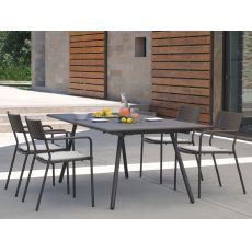 Bridge T - Emu table in metal, available in several sizes and colours, also extendable, for garden