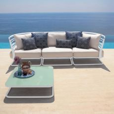 Marcel M - Emu modular sofa with 3 seaters, in metal with cushions