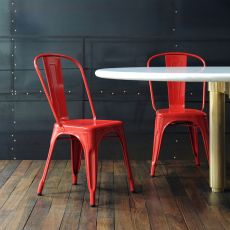A Chair - Sedia Tolix di design in metallo, impilabile
