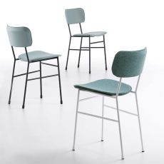 Master S - Midj metal chair, different upholsteries available