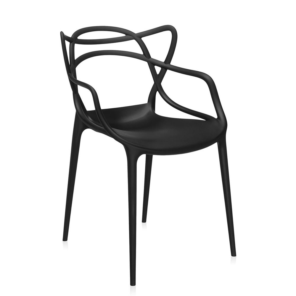 Kartell design chair, black polypropylene