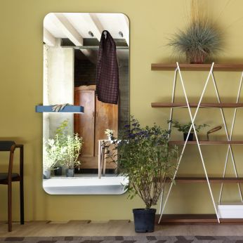 Benvenuto - Rectangular mirror with pegs and box
