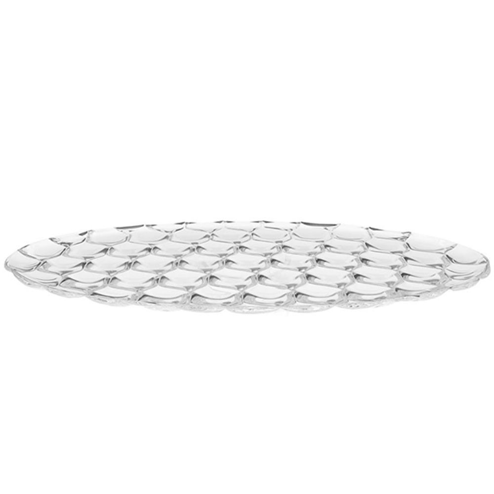 Kartell desiner oval tray, transparent