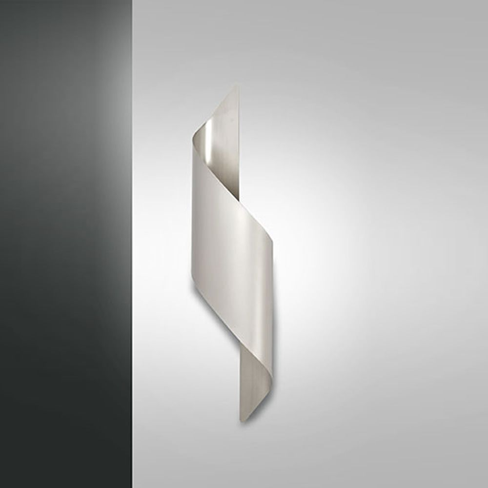 Wall lamp in metal, size M, light grey colour