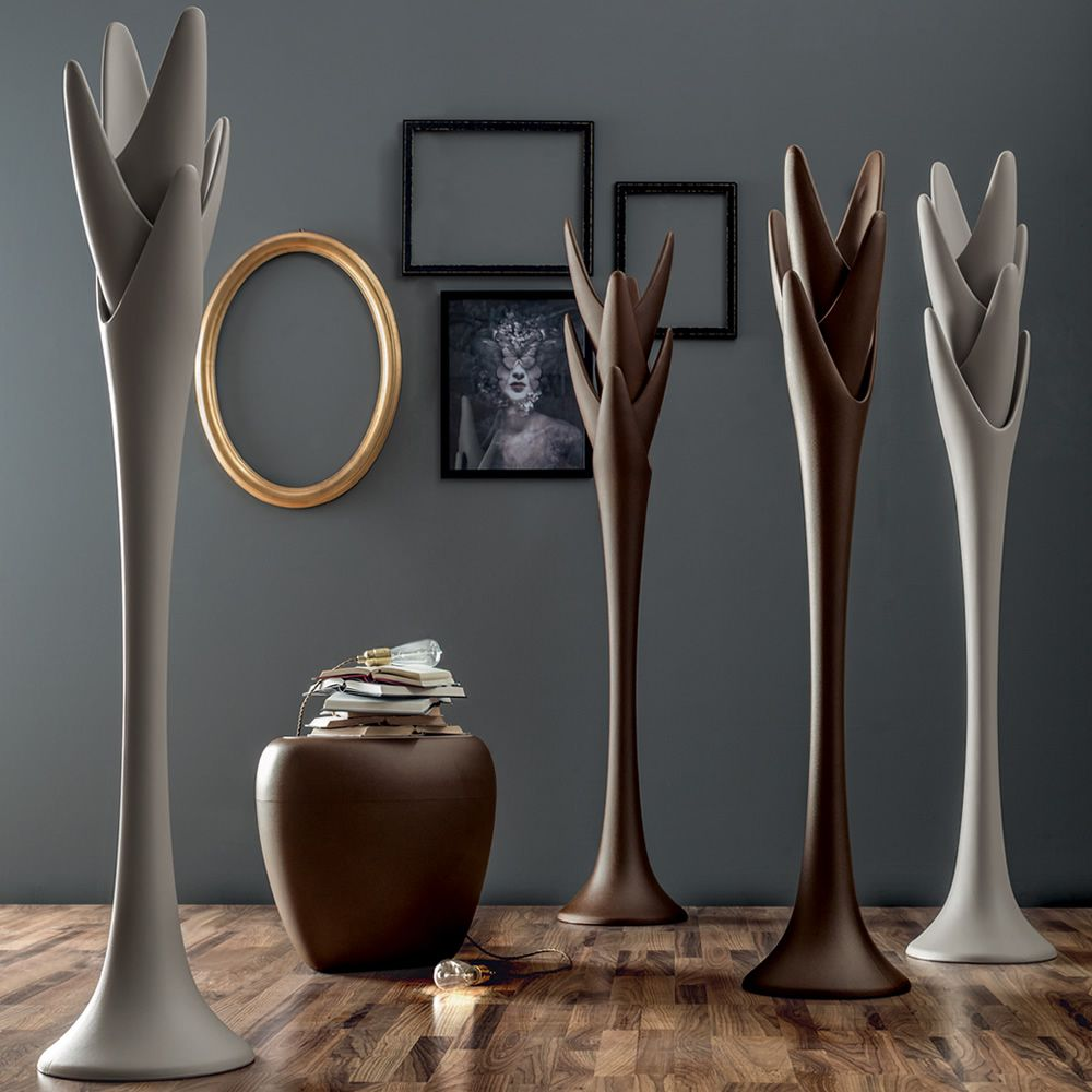 Coat stand made of polyethylene, dove grey and bronze colours, also for outdoor