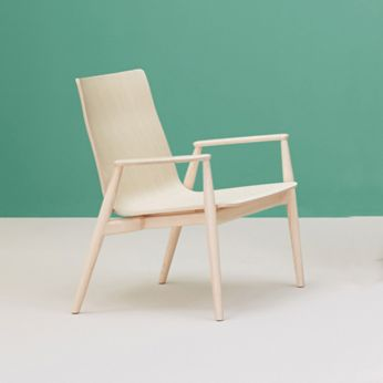 Malmö Relax 299 - Design chair in whitened ash wood
