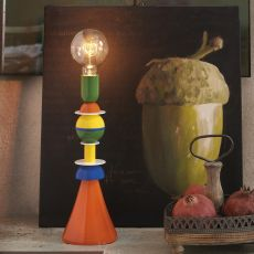 Otello - Slide table lamp in varnished metal, available in different sizes