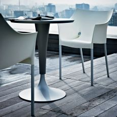 Dr. No - Design Kartell chair, in aluminum and plastic, stackable, also for garden