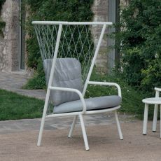 Nef 627 - Emu armchair made of aluminium, with cushions, for garden