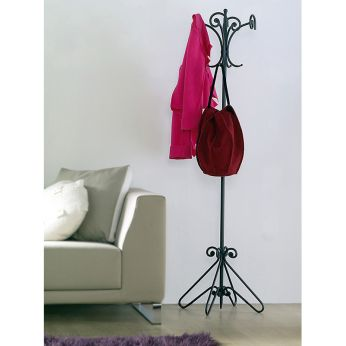 Giro - Coat stand in graphite varnished iron