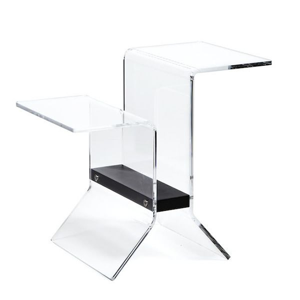 Coffee table-Magazine rack made of methacrylate and black lacquered MDF
