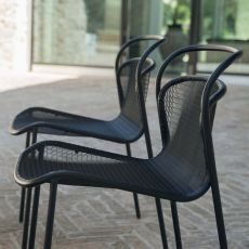 Modern 634 - Emu chair made of metal, stackable, also for garden