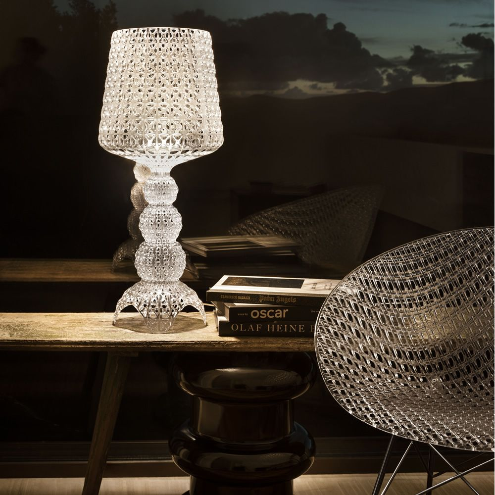 Kartell table lamp in transparent technopolymer