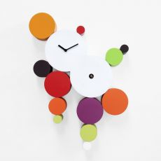 Cucuball - Cuckoo wall clock made of wood, different colours available