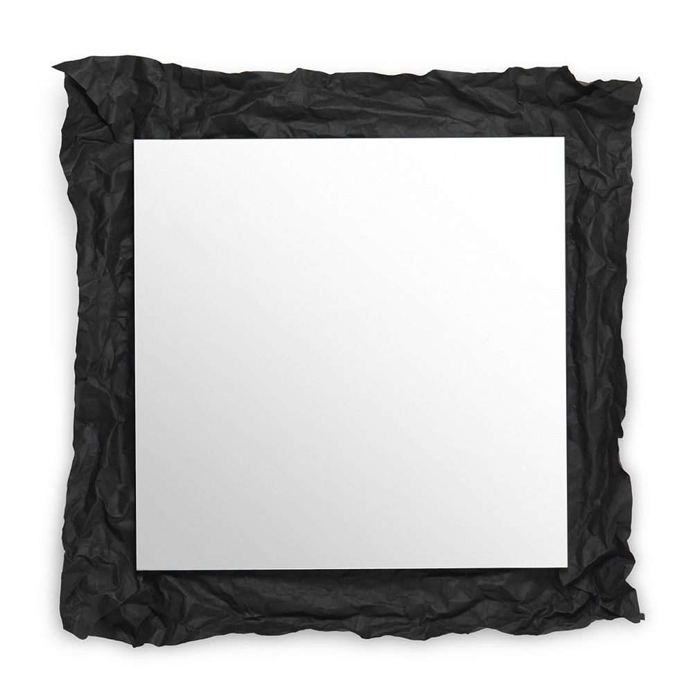Wall mirror, with black felt frame (Size: Large)