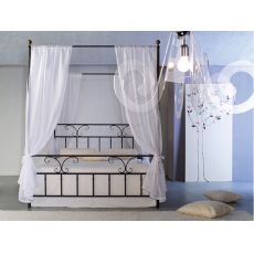 Fiordaliso B - Double poster bed in iron