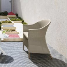 Circle - P2 - Armchair in aluminium and textilene, also for garden