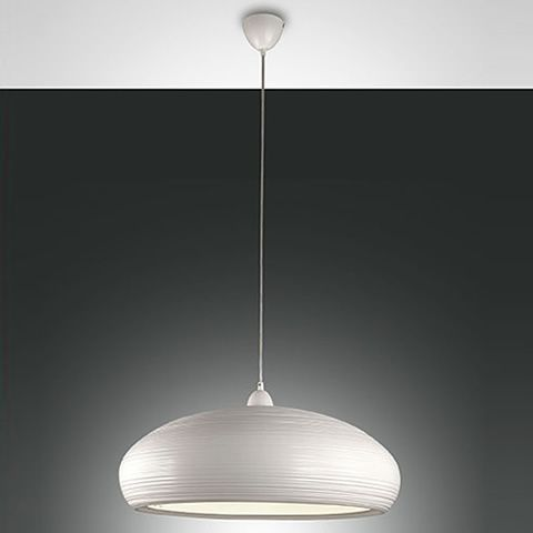 Pendant lamp in metal, white colour