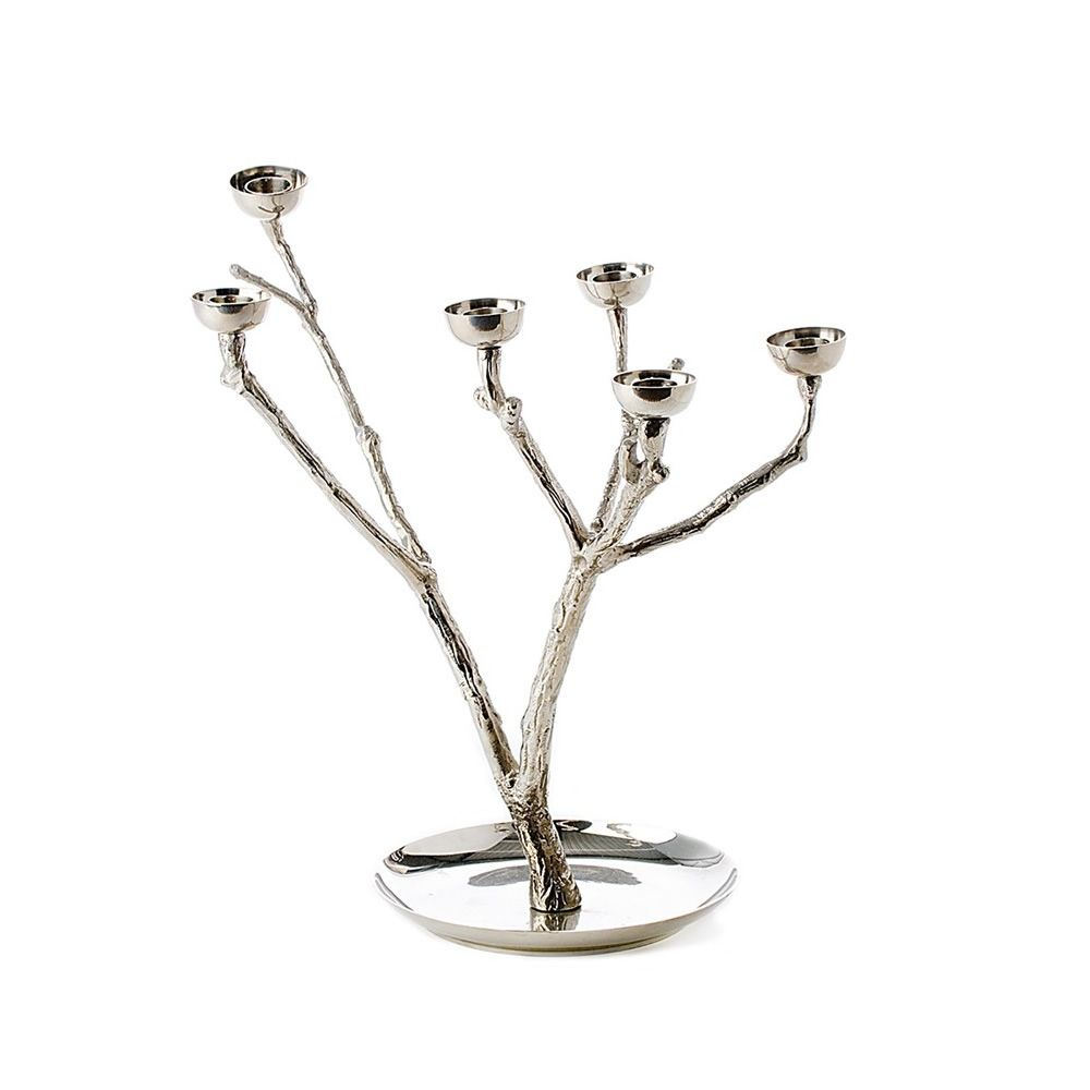 Pols potten design candlestick, in brass, in the shape of a tree, size S.
